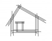 tekening van een huis